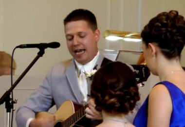 Groom Surprises The Bride When He Sings A Song At The Wedding
