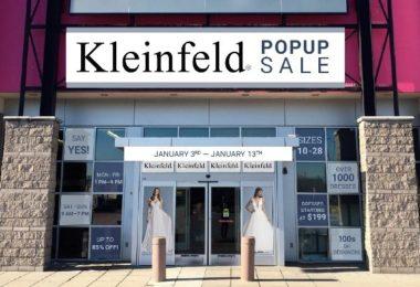 Kleinfeld Bridal Opens First Ever Pop-Up Shop In New Jersey Featuring Designer Wedding Dresses Under $200